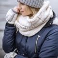 W. FINGERLESS GLOVES FAIRISLE PATTERN - STOCKHOLM (삭샵 힛홀더스 여성 니트 겨울 핑거리스 반장갑)
