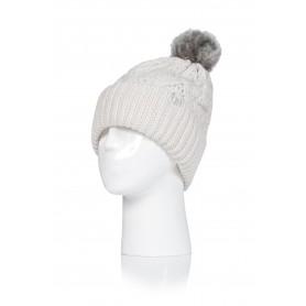 W. POM POM HAT - SOLNA (삭샵 힛홀더스 여성 니트 겨울 방울 모자)