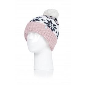 W. POM POM CHUNKY KNIT HAT - LAGAN (삭샵 힛홀더스 여성 니트 겨울 방울 모자)