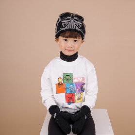 STAR WARS KIDS MARVEL HAT&GLOVES - BLACK (삭샵 힛홀더스 아동 키즈 스타워즈 디즈니 겨울 보온 털모자 장갑 세트)