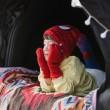 SPIDERMAN KIDS MARVEL HAT&GLOVES - RED (삭샵 힛홀더스 아동 키즈 스파이더맨 마블 겨울 보온 털모자 장갑 세트)