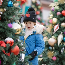 SPIDERMAN BOYS MARVEL HAT&GLOVES - BLACK (삭샵 힛홀더스 아동 키즈 스파이더맨 마블 겨울 보온 방울모자 장갑 세트)