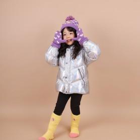 RAPUNZEL KIDS DISNEY HAT&GLOVES (삭샵 힛홀더스 아동 키즈 라푼젤 디즈니 겨울 보온 방울모자 장갑 세트)