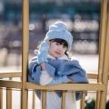 FROZEN ELSA KIDS DISNEY HAT&GLOVES (삭샵 힛홀더스 아동 키즈 겨울왕국 엘사 디즈니 공주 겨울 보온 방울모자 장갑 세트)