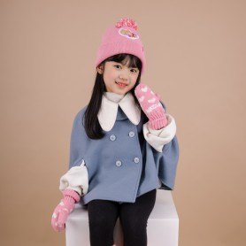 DISNEY PRINCESS KIDS DISNEY HAT&GLOVES (삭샵 힛홀더스 아동 키즈 디즈니 프린세스 공주 겨울 보온 방울모자 장갑 세트)