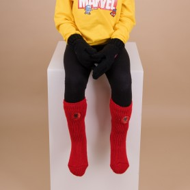 [1pr] SPIDERMAN BOYS MARVEL SOCKS - RED (삭샵 힛홀더스 아동 키즈 스파이더맨 마블 겨울 보온양말)