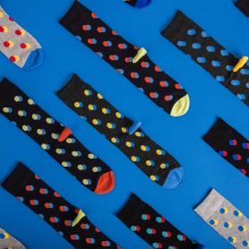 [3pr] M. DOT PATTERN BAMBOO SOCKS - CHARCOAL (삭샵 와일드핏 남성 도트 패턴 뱀부 패션 양말)
