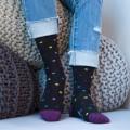[3pr] W. DOT PATTERN BAMBOO SOCKS - BLACK1 (삭샵 와일드핏 여성 도트 패턴 뱀부 패션 양말)