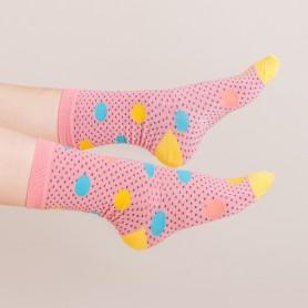 [3pr] W. DOT PATTERN BAMBOO SOCKS (삭샵 와일드핏 여성 도트 패턴 뱀부 패션 양말)