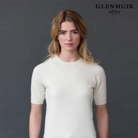g.Charlotte Short Sleeve Crew - GLENMUIR CASHMERE PREMIUM COLLECTION 캐시미어 프리미엄 컬렉션 여성 라운드넥 반팔 니트