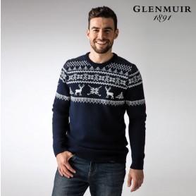 g.Fairisle 남성 페어아일 패턴 글렌뮤어 크리스마스 골프 니트 스웨터