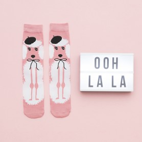 [1pr] W. FRENCH POODLE BAMBOO SOCKS (삭샵 DARE TO WEAR 여성 푸들 뱀부 양말)