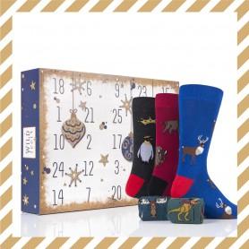 [25pr] M. 25 DAYS CHRISTMAS GIFT BOX (삭샵 와일드핏 남성 패턴 패션양말 선물 세트)