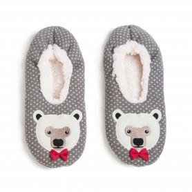 [1pr] M. POLAR BEAR KNITTED SLIPPER (삭샵 와일드핏 남성 겨울 북극곰 털 슬리퍼)