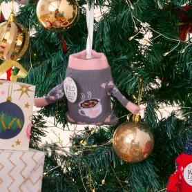 [1pr] W. XMAS HOT CHOCOLATE SOCKS (삭샵 와일드핏 크리스마스 트리 행잉 여성양말 4종 - 핫초코)