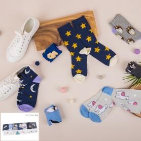 [7pr] W. 7 DAYS GIFT BOX (삭샵 와일드핏 여성 패턴 패션양말 선물 세트)